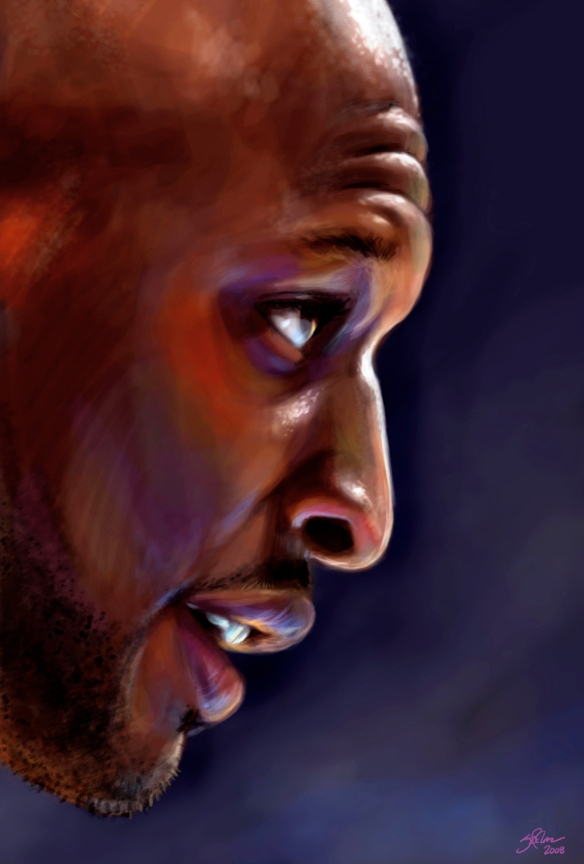 Digital Painting of Lamar Odom from 2008